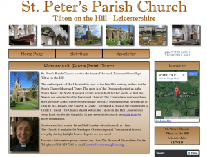 St Peter's Parish Church Website front page